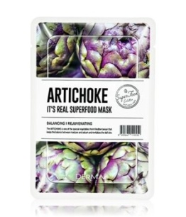 DERMAL It's Real Superfood Artichoke Tuchmaske 1 Stk