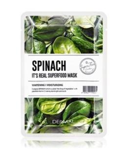 DERMAL It's Real Superfood Spinach Tuchmaske 1 Stk
