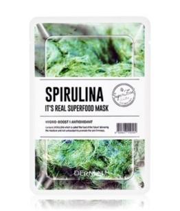 DERMAL It's Real Superfood Spirulina Tuchmaske 1 Stk